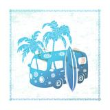 Retro Travel Bus Posters af  transiastock