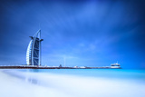 Burj Al Arab Hotel on Jumeirah Beach in Dubai, Modern Architecture, Luxury Beach Resort, Summer Vac Photographic Print by Anna Omelchenko