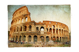 Great Colosseum - Artistic Retro Styled Picture Print by  Maugli-l