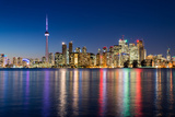 Night Scene of Downtown Toronto Photographic Print by  yanmingzhang
