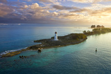 Nassau Bahamas, Lighthouse, and Paradise Island at Dawn Posters by Wollwerth Imagery