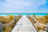 Beautiful Beach at Caribbean Providenciales Island in Turks and Caicos Photographic Print by BlueOrange Studio