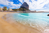 Calpe Playa Cantal Roig Beach near Penon De Ifach at Alicante Spain Photographic Print by  holbox