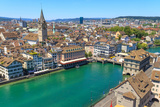 Zurich Cityscape (Aerial View) Photographic Print by  Zechal