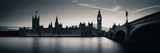 Big Ben and House of Parliament in London at Dusk Panorama. Prints by Songquan Deng