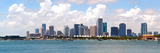 City of Miami Florida Cityscape of Downtown Photographic Print by  Fotomak