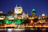 Quebec City Skyline at Dusk over River Viewed from Levis. Posters by Songquan Deng