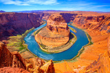 Arizona Horseshoe Bend Meander of Colorado River in Glen Canyon Photographic Print by  holbox