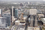 Aerial View of Downtown Phoenix, Arizona Prints by Wollwerth Imagery