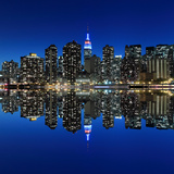 Midtown Manhattan Skyline at Night Lights, New York City Photographic Print by  Zigi