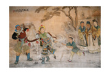 Chinese Classic Wall Drawing Print by B.B. Xie