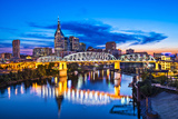 Nashville, Tennessee Downtown Skyline at Shelby Street Bridge. Photographic Print by  SeanPavonePhoto