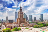 Warsaw, Poland. Aerial View Palace of Culture and Science and Downtown Business Skyscrapers, City C Photographic Print by PHOTOCREO Michal Bednarek
