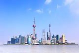 Panoramic View of Shanghai Skyline, China Photographic Print by  Zoom-zoom