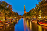 Western Church on Prinsengracht Canal in Amsterdam Photographic Print by  sborisov