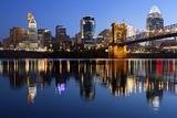 Cincinnati Skyline. Fotografisk trykk av  rudi1976