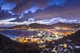 Philipsburg, Sint Maarten, Dutch Antilles Cityscape at the Great Salt Pond. Photographic Print by  SeanPavonePhoto