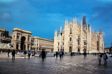 Milan Cathedral, Duomo and Vittorio Emanuele II Gallery at Piazza Del Duomo. Lombardy, Italy. Posters by PHOTOCREO Michal Bednarek