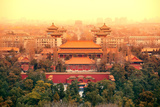 Aerial View of Beijing with Historical Architecture, China. Photographic Print by Songquan Deng