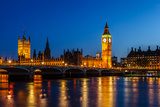 Big Ben and House of Parliament at Night, London, United Kingdom Photographic Print by  anshar