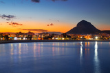 Alicante Javea Sunset Beach Cityscape Night View Photographic Print by  holbox