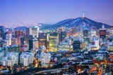 Downtown Cityscape of Seoul, South Korea Photographic Print by  SeanPavonePhoto