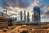 Grandiose Construction in Dubai, the United Arab Emirates Photographic Print by  balaikin2009