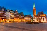 Historic Center of Frankfurt at Dusk Photographic Print by  sborisov