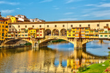Ponte Vecchio over Arno River in Florence, Italy Photographic Print by  sborisov