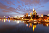Panorama of Frankfurt Am Mine at Night, Germany Photographic Print by  Zoom-zoom
