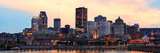 Montreal over River Panorama at Dusk with City Lights and Urban Buildings Photographic Print by Songquan Deng