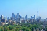 Toronto City Skyline View with Park and Urban Buildings Reproduction photographique par Songquan Deng