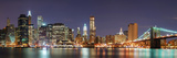 New York City Manhattan Skyline Panorama with Brooklyn Bridge and Office Skyscrapers Building in At Photographic Print by Songquan Deng