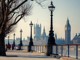 Big Ben and Houses of Parliament in London, UK Photographic Print by  sborisov