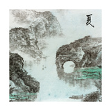 Chinese Traditional Ink Painting, Landscape of Season, Summer. Prints by  elwynn