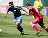 Apr 12, 2008, Chicago Fire vs San Jose Earthquakes - Shea Salinas Photographic Print by Sara Wolfram