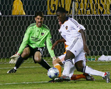 2009 Western Conference Championship: Nov 13, Houston Dynamo vs Los Angeles Galaxy - Edson Buddle Photographic Print by Robert Mora