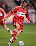Apr 26, 2008, Colorado Rapids vs Chicago Fire - Chad Barrett Photographic Print by Brian Kersey