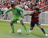 Aug 8, 2009, Seattle Sounders FC vs Real Salt Lake - Fabian Espindola Photo by Melissa Majchrzak
