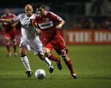 Aug 1, 2009, Real Salt Lake vs Chicago Fire - Gonzalo Segares Photographic Print by Brian Kersey