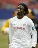 Apr 25, 2004, New England Revolution vs New York-New Jersey MetroStars - Shalrie Joseph Photographic Print by Allen Kee