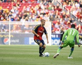 Aug 8, 2009, Seattle Sounders FC vs Real Salt Lake - Steve Zakuani Photographic Print by Melissa Majchrzak
