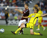 Aug 1, 2009, Columbus Crew vs Colorado Rapids - Jordan Harvey Photo by Garrett Ellwood