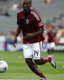 Aug 30, 2009, Houston Dynamo vs Colorado Rapids - Omar Cummings Photographic Print by Garrett Ellwood