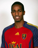 Feb 3, 2006, Real Salt Lake Pose for Media Guide Head Shots - Atiba Harris Photo by Kent Horner