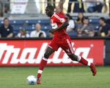 Jul 11, 2009, Columbus Crew vs Chicago Fire - Bakary Soumare Fotografisk tryk af Brian Kersey