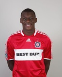 2009 Chicago Fire Headshots: Bakary Soumare Fotografisk tryk af Brian Kersey