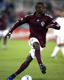 Apr 25, 2009, Los Angeles Galaxy vs Colorado Rapids - Omar Cummings Photographic Print by Garrett Ellwood