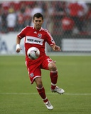 Aug 5, 2009, Chicago Fire vs Tigres UANL - Gonzalo Segares Photographic Print by Brian Kersey