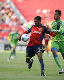 Aug 8, 2009, Seattle Sounders FC vs Real Salt Lake - Robbie Findley Photographic Print by Melissa Majchrzak